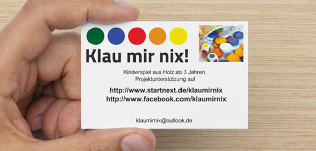 Erste Visitenkarte klau-mir-nix
